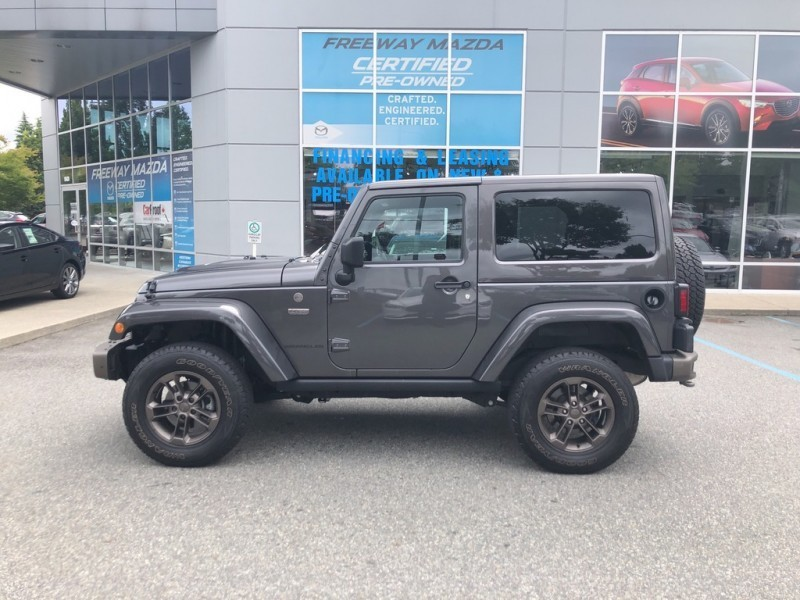 Pre-Owned 2016 Jeep Wrangler 75th Anniversary Edition - $233 B/W