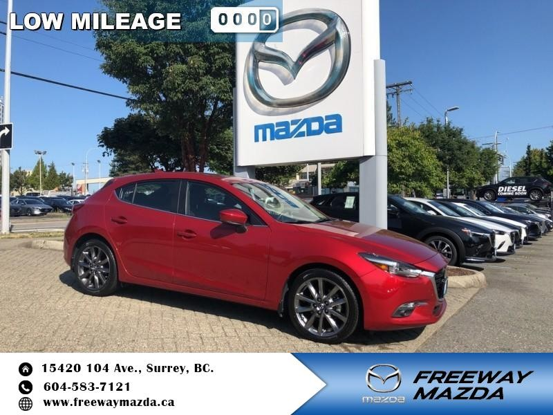 Pre-Owned 2018 Mazda3 GT - $164 B/W - Low Mileage
