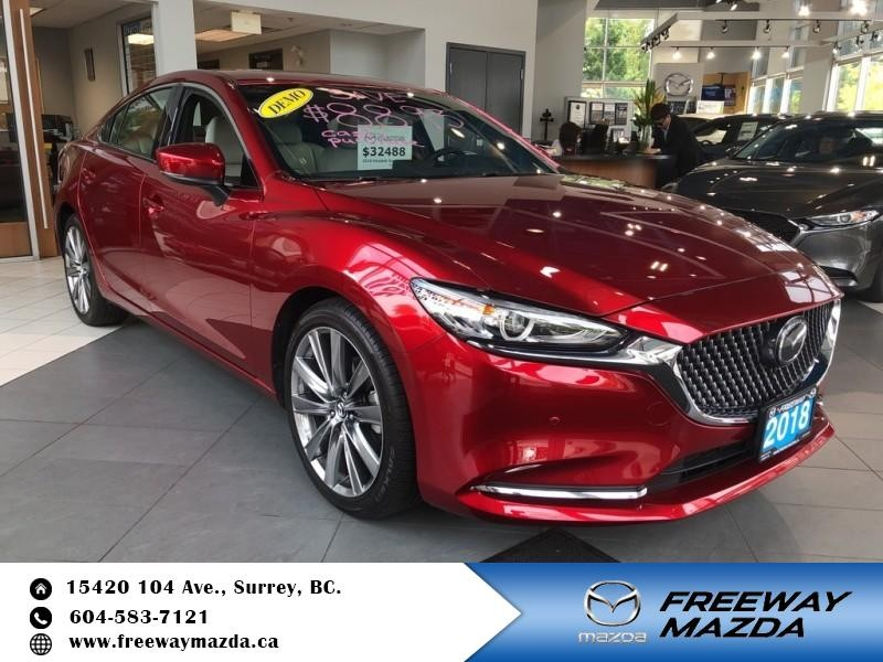 Pre-Owned 2018 Mazda6 Signature - Leather Seats - $216 B/W