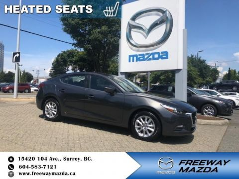 Pre-Owned 2018 Mazda3 GS - Heated Seats - $121 B/W